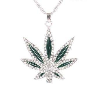 New Sliver Plated Hiphop Leaf Necklace bundle